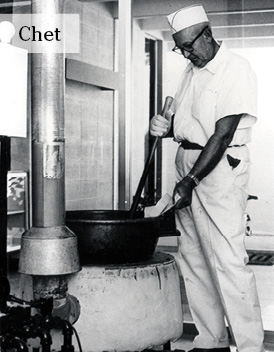 Chet Enstrom making toffee