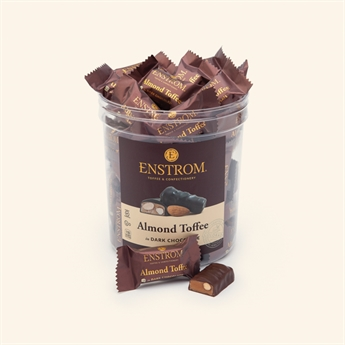 Almond Toffee Singles Dark Chocolate Tub