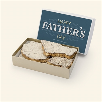 Dark Chocolate Almond Toffee Father's Day Box