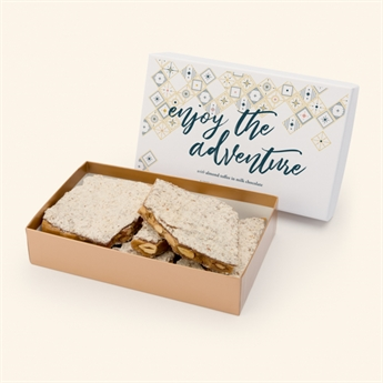 Milk Chocolate Almond Toffee Enjoy the Adventure  Box