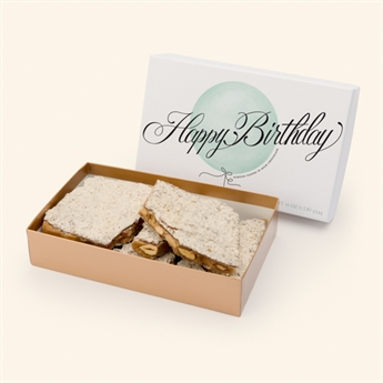 Milk Chocolate Almond Toffee Happy Birthday Box