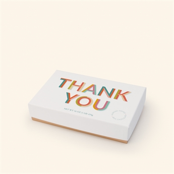 Milk Chocolate Almond Toffee Floral Thank You Box