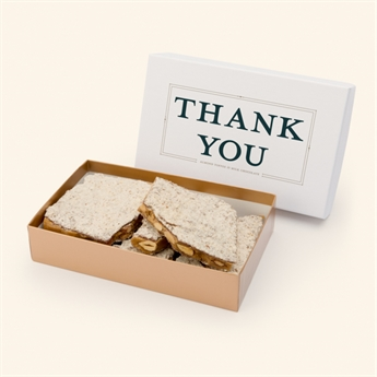Milk Chocolate Almond Toffee Thank You Box