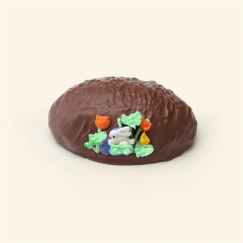 Milk Chocolate Pecan Fudge Decorated Egg 10oz