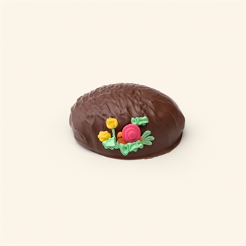 Milk Chocolate Peanut Butter Fudge Decorated Egg 5oz