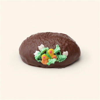Milk Chocolate Peanut Butter Fudge Decorated Egg 10oz