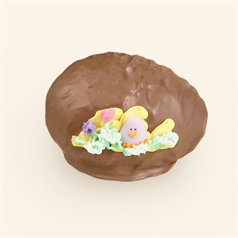 Milk Chocolate Swiss Cream Decorated Egg 5oz